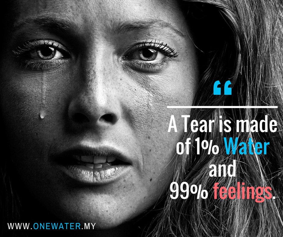 Image A Tear is made of 1% Water and 99% feelings