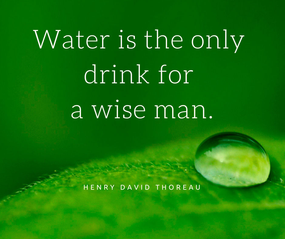 Image Water is the only drink for a wise man